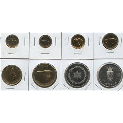 1967 Royal Canadian Mint Gold Plated Mint Set with silver Centennial medallions