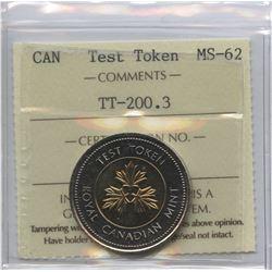 1996 $2 Toonie Test Token