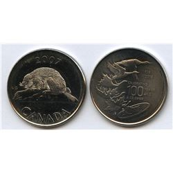 Royal Canadian Mint, 2007 Beaver and 1908-2008 RCM tokens