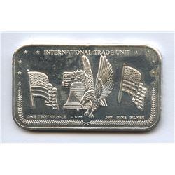 International Trade Unit 1 Troy Ounce Fine Silver