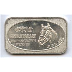 United States Silver Corporation Secretariat 1oz Silver Bar