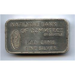 Johnson Matthey London 100 Gram Fine Silver Bar .9999 - Bank of England