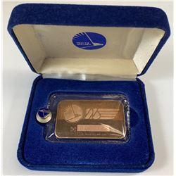 Ultra-Rare! Pratt & Whitney Canadian 1 Oz Fine Silver 25th anniversary Bar
