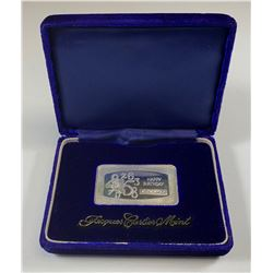Jacques Cartier Mint 1 oz Fine Silver Happy Birthday Bar in Box