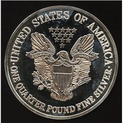 2000 Large Coloured Quarter Pound 4 oz Fine Silver Eagle Round