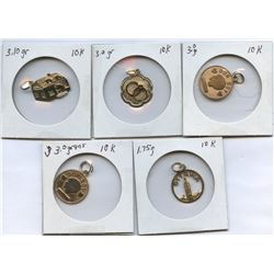 10k Gold Charms - Lot of 5