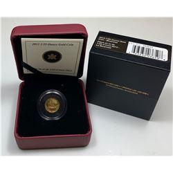 2012 Gold Bluenose 1/25 Ounce Coin