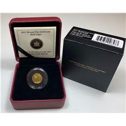 2013 Bald Eagle 50-Cents Fine Gold Coin