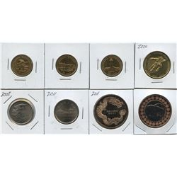 Royal Canadian Mint medallions/tokens lot, plus plated coins.