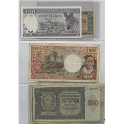 World Paper Money - Lot of 173 Notes