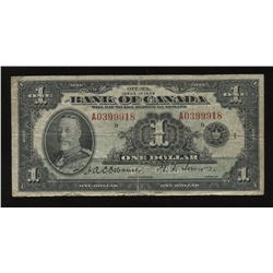 Bank of Canada $1 1935 English