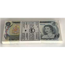 Bank of Canada $1 1973 - Original 100ct. Bundle