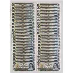 Bank of Canada $1 1973 - Original 40 Note Bundle