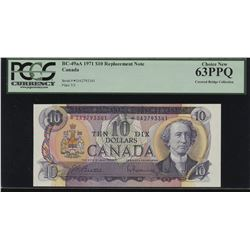 Bank of Canada $10, 1971 Replacement Note