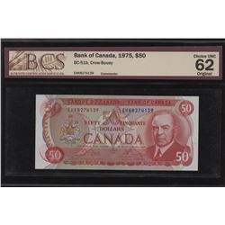 Bank of Canada $50 1975 Unc 62