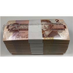 Bank of Canada $2 1986 Uncirculated Brick