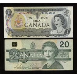 RADAR - Bank of Canada $1 & 20 Lot