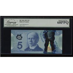 2013 Bank of Canada $5 - Changeover Macklem - Carney