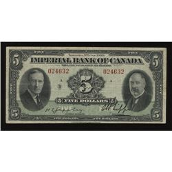 Imperial Bank of Canada $5, 1939