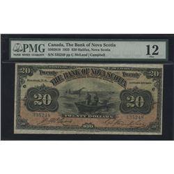 The Bank of Nova Scotia $20, 1925