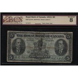 The Royal Bank of Canada $5, 1913