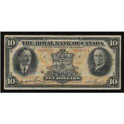 The Royal Bank of Canada $10, 1927