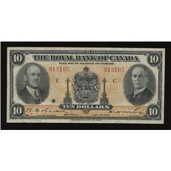 The Royal Bank of Canada $10, 1935