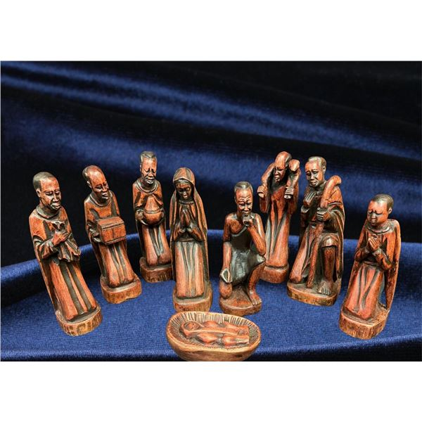 Handcarved Nativity Set - from Zambia