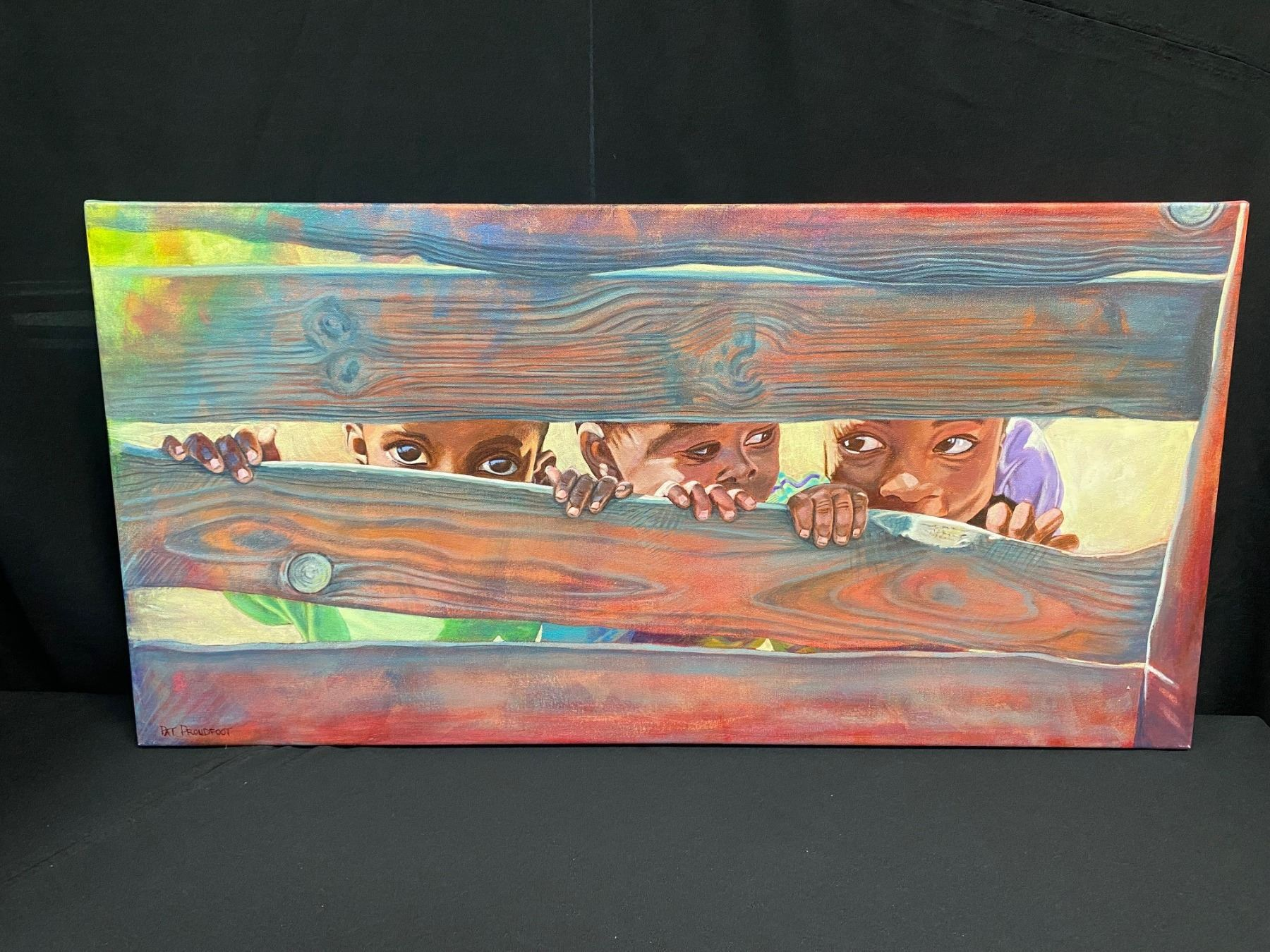 Oil on Canvas -  Through The Fence