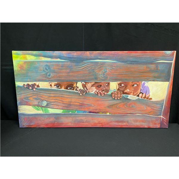 "Oil on Canvas - ""Through The Fence"""