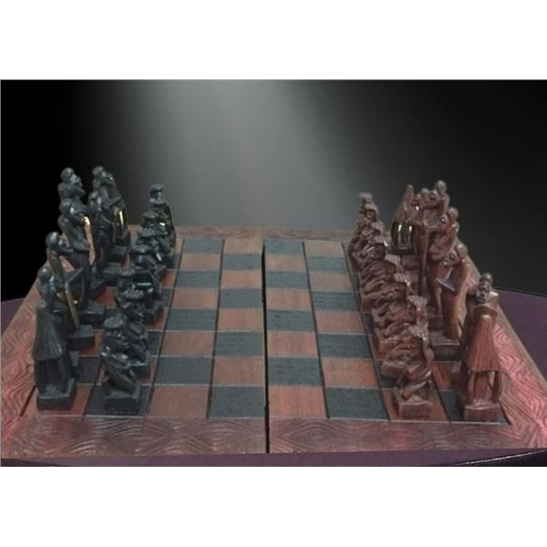 Wooden Chess Set - Handcrafted in Zambia