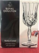 Royal Doulton - Roma Crystal - Set of 4 Wine Glasses