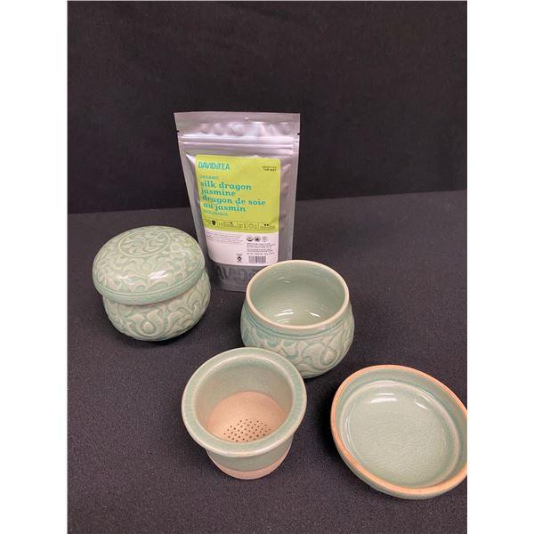 Ceramic Asian Tea Cups & Loose Leaf Tea