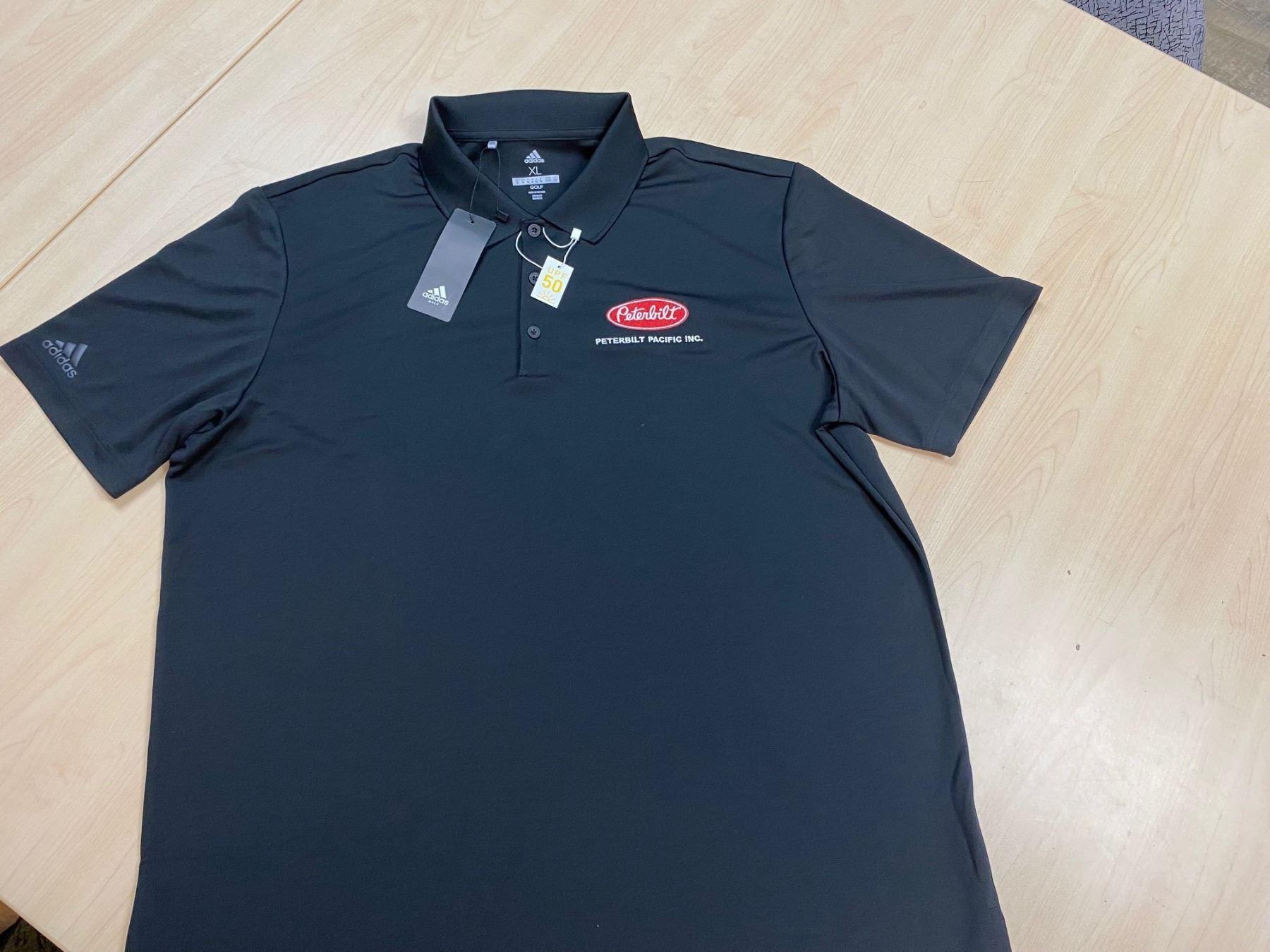 Men's Black Adidas Golf Shirt