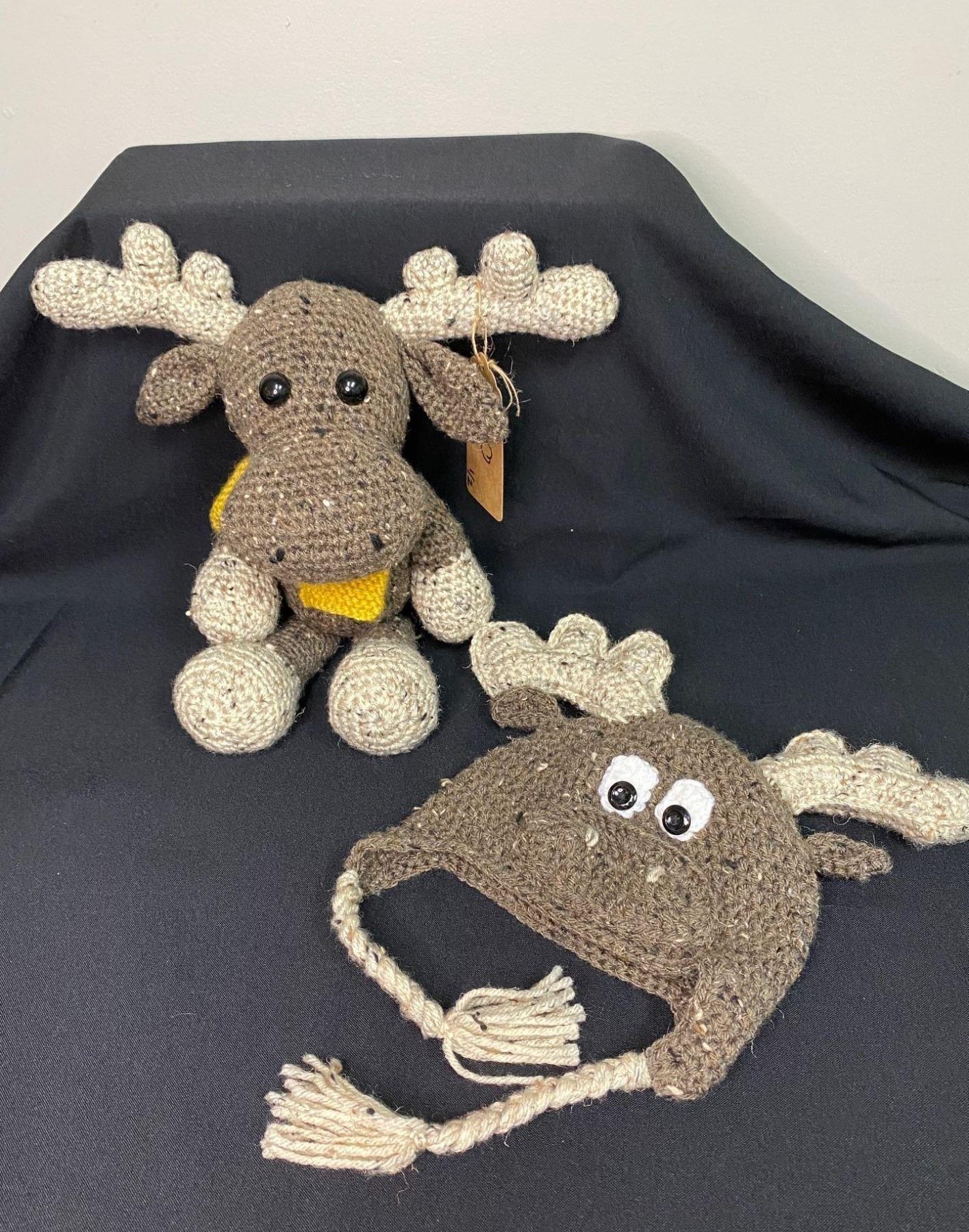 Marty the Moose Stuffed Animal & Hat