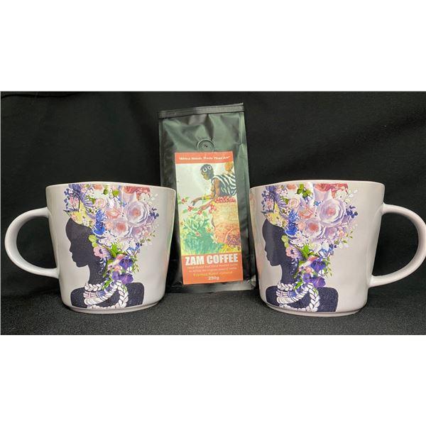Purple African Inspired Coffee Mugs & Coffee