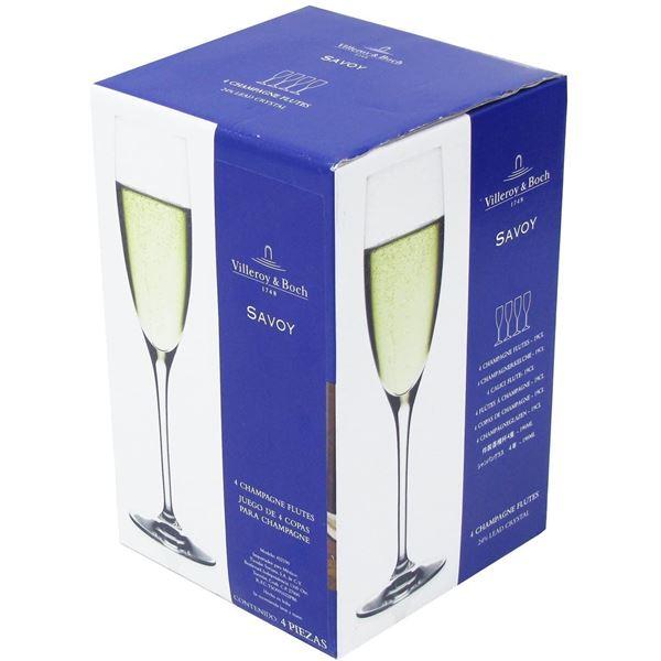 Villeroy & Boch Crystal Champagne Flutes - Set of 4