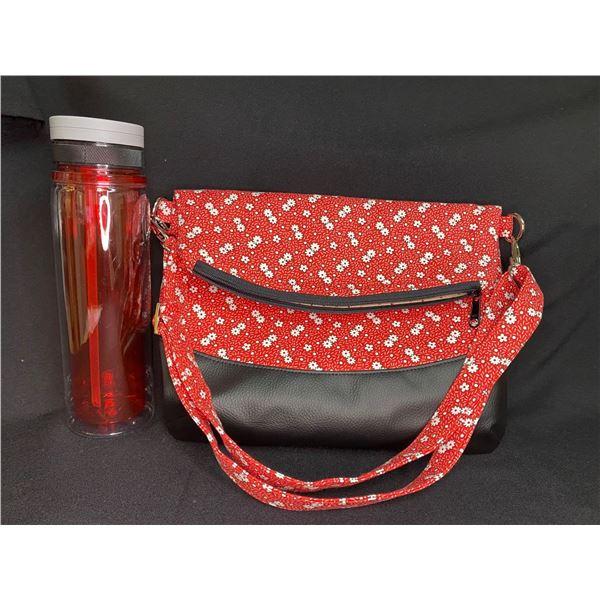 Red Flowered Handbag
