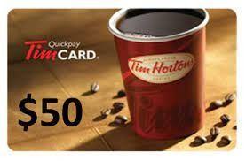 $50.00 Tim Horton's Gift Card