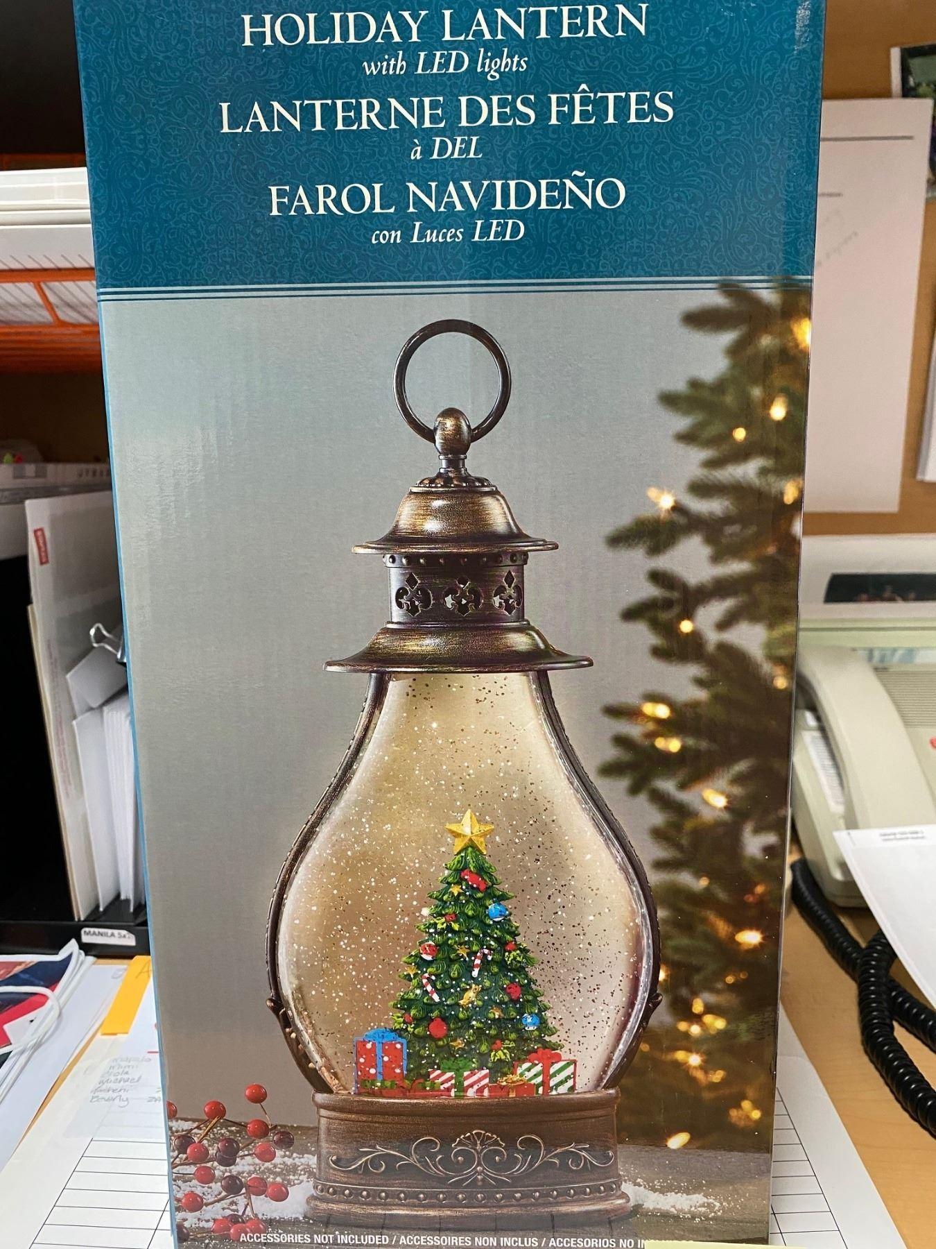 Holiday Lantern with LED Lights