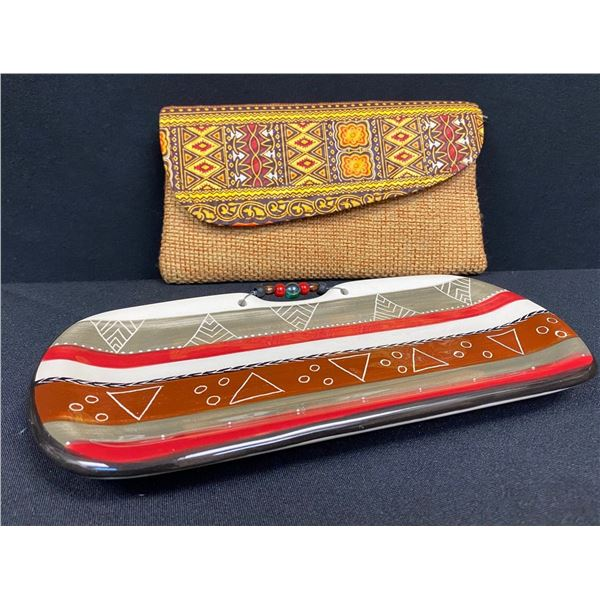 Beautiful Ceramic Dish & Complementary Clutch