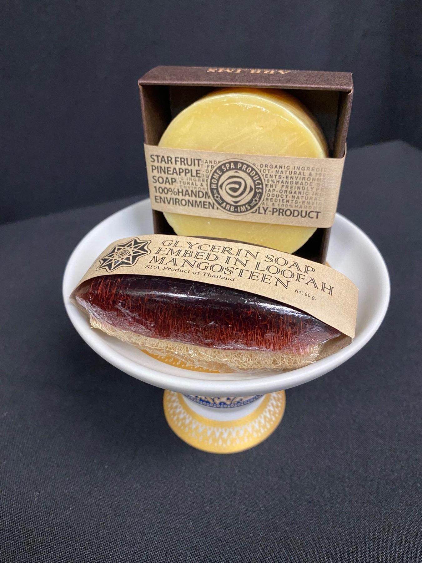 Ceramic Dish w/ Soaps