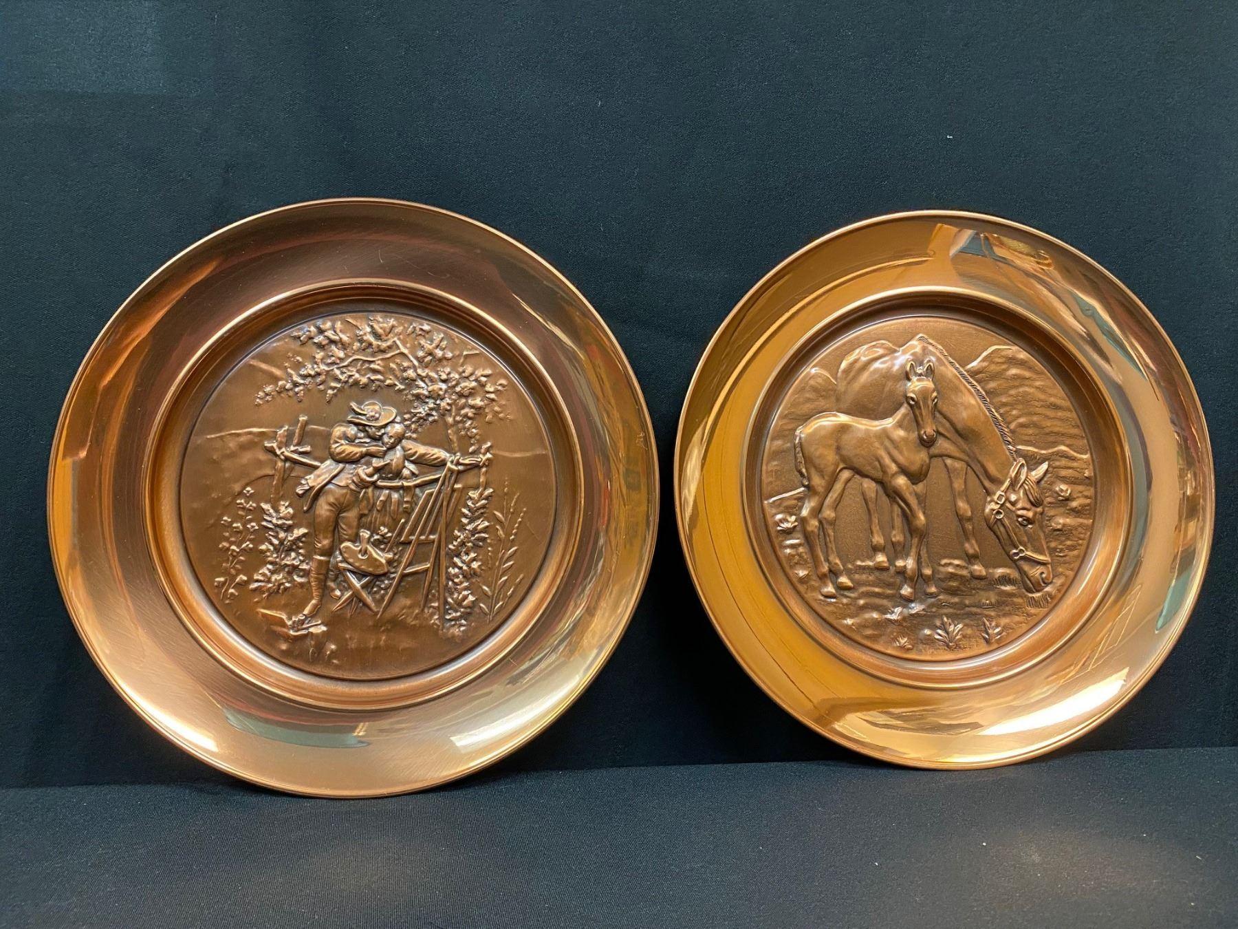 Copper Wall Decor Plates