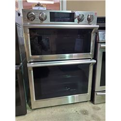 "SAMSUNG STAINLESS STEEL 30"" MICROWAVE COMBINATION WALL OVEN WITH FLEX DUO"