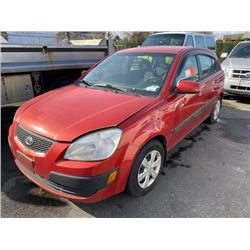 2006 KIA RIO5, 4DR SW, ORANGE, VIN # KNADE163066098718