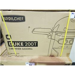 *BOXED* BROILCHEF DUKE 200T 2-BURNER PROPANE GRILL /W CART
