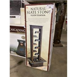 *BOXED* NATURAL SLATE STONE WATER FOUNTAIN