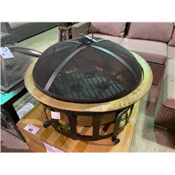 *BOXED* COPPER & BLACK FINISH OUTDOOR FIRE PIT /W GEL INSERT