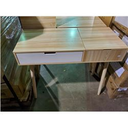 "TWO TONE TABLE (35.5""L X 15.5""D X 30""H)"