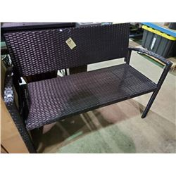 "BLACK JACKIE KD WICKER BENCH (48""W)"